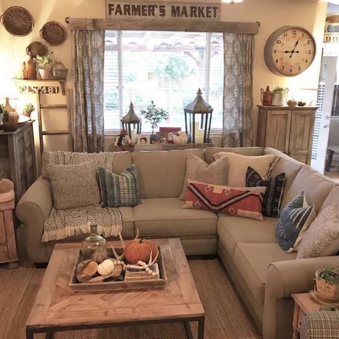 Cool 4 Simple Rustic Farmhouse Living Room Decor Ideas | My Home Decor Guide throughout Living Room Themes