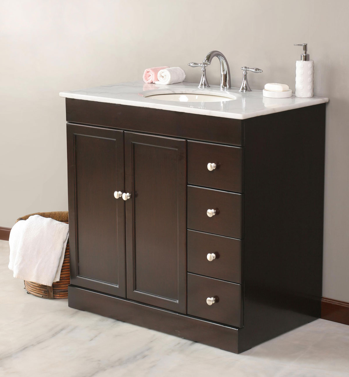 Cool 42 Bathroom Vanity With Top Stylish Jade White Inch Pertaining To 2 within Bathroom Vanity With Top