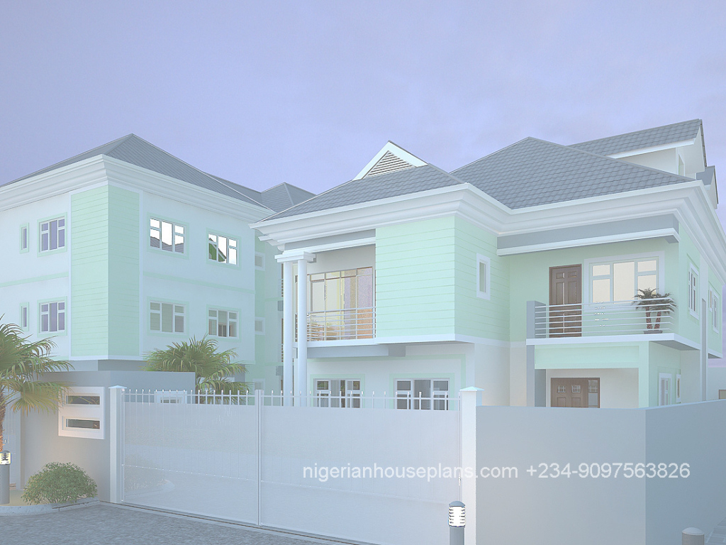 Cool 5 Bedroom Duplex Archives - Nigerianhouseplans intended for Nigerian House Plans With Photos