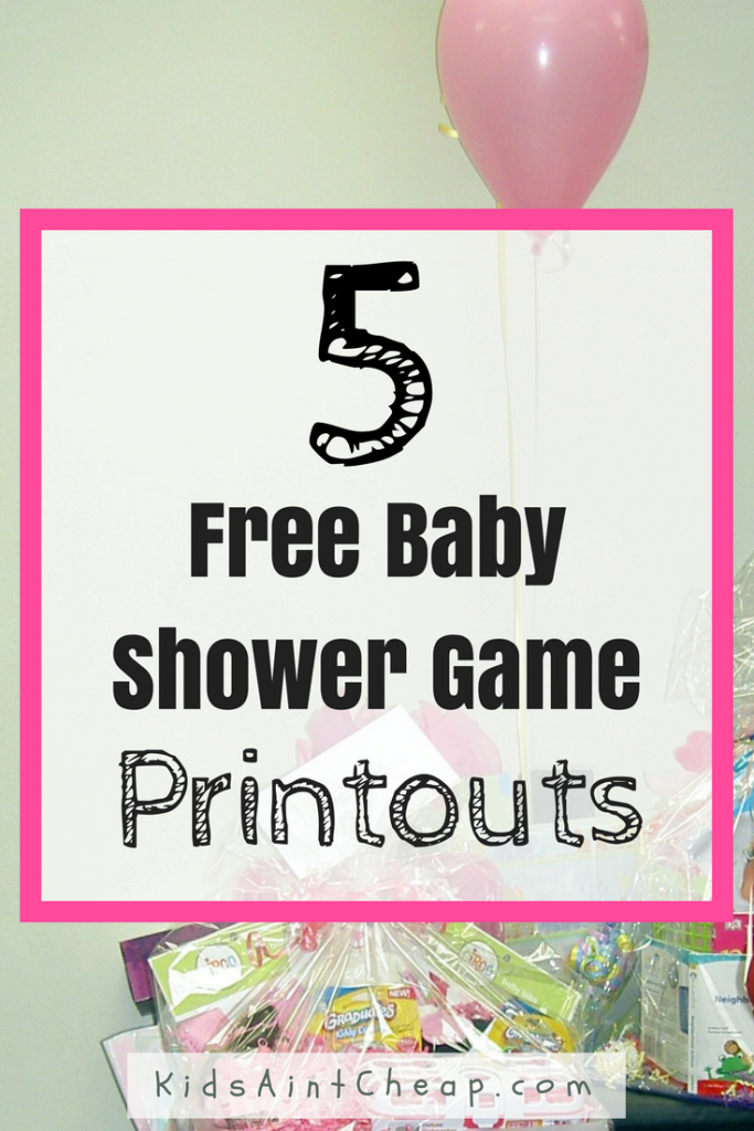 Cool 5 Free Printable Baby Shower Games | Kids Ain't Cheap for Baby Shower Games Free Printable