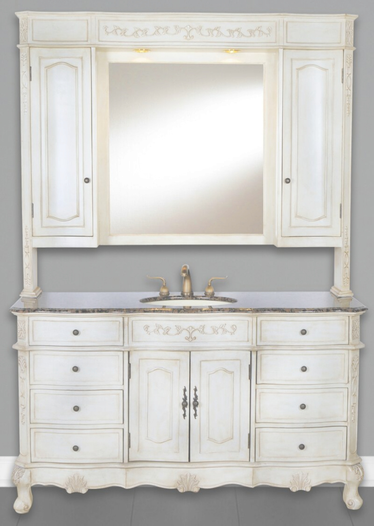 Cool 60-Inch Cortina Vanity | Single Sink Vanity | Vanity With Hutch for Inspirational Single Sink Bathroom Vanity