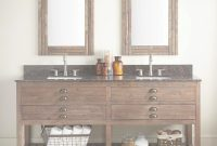 "Cool 72"" Benoist Reclaimed Wood Console Double Vanity For Rectangular in Bathroom Double Vanity"