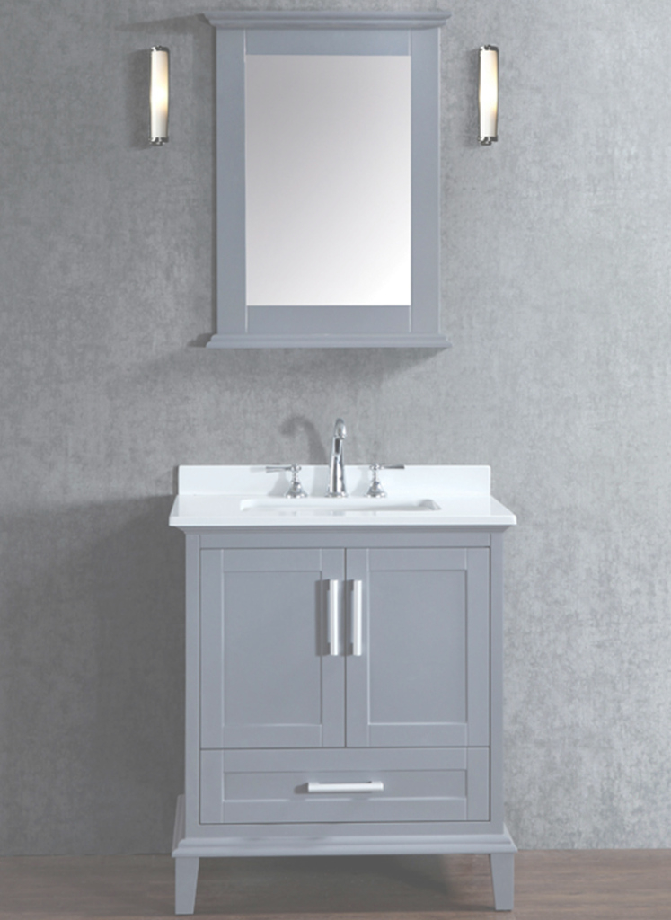 Cool Ace 30 Inch Single Whale Grey Bathroom Vanity Set With Mirror in Best of Bathroom Vanity Set With Mirror
