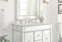 Cool Adelina 44 Inch Mirrored Bathroom Vanity Cabinet, Fully Assembled regarding Set Mirror Bathroom Vanity