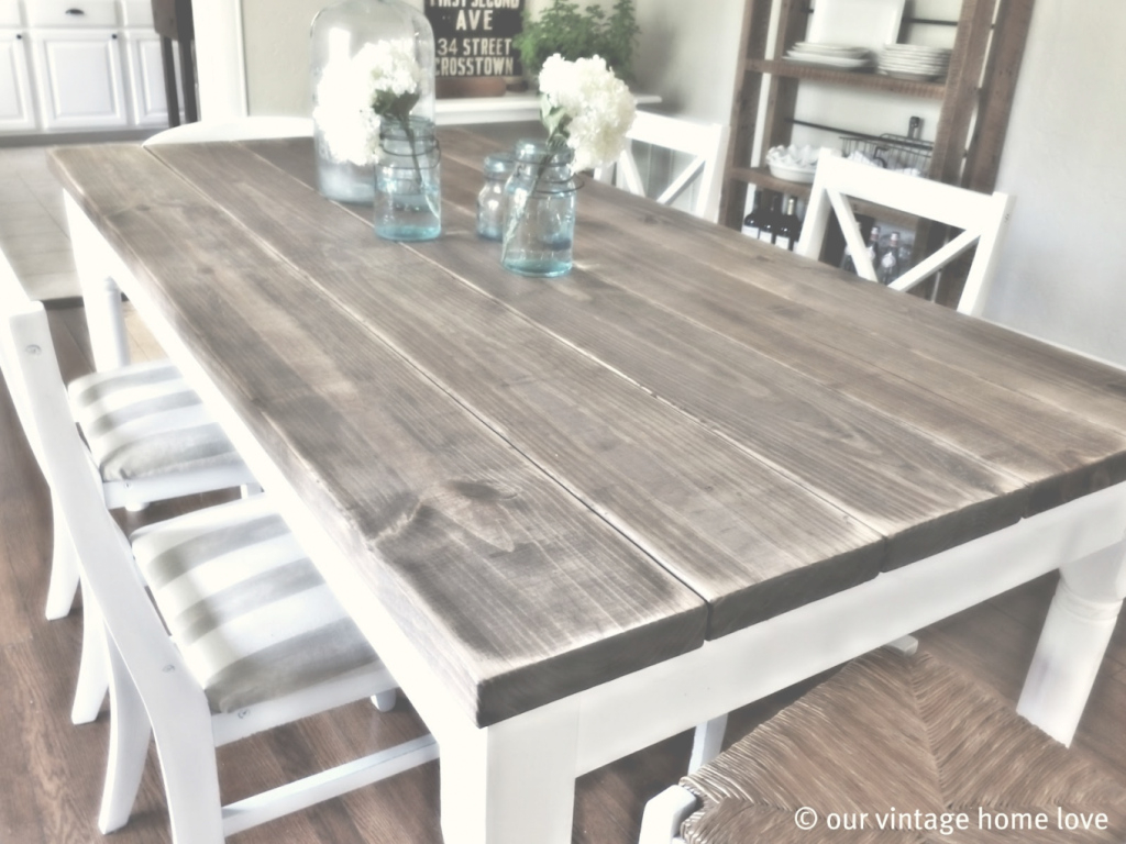 Cool Amazing Refinish Dining Room Table Our Vintage Home Love Throughout regarding How To Refinish A Dining Room Table