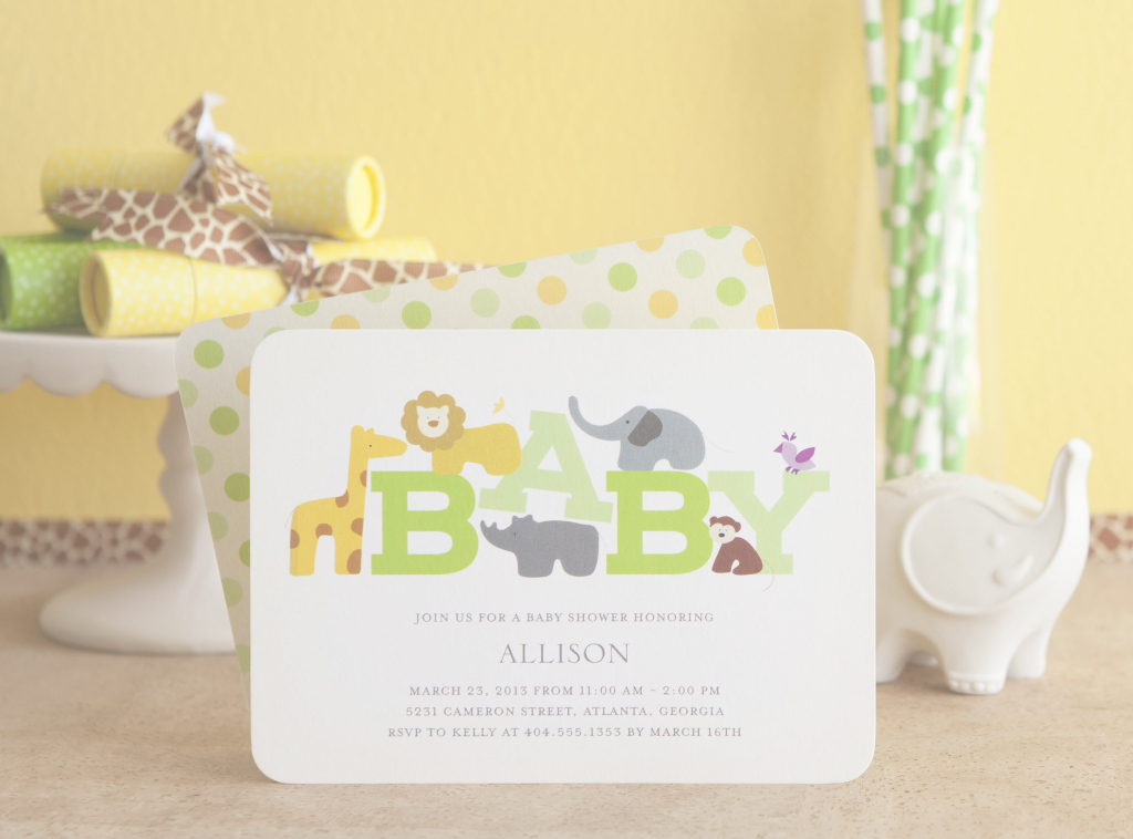 Cool An Adorable New Wildlife Baby Shower Invitation From Tiny Prints regarding Best of Tiny Prints Baby Shower