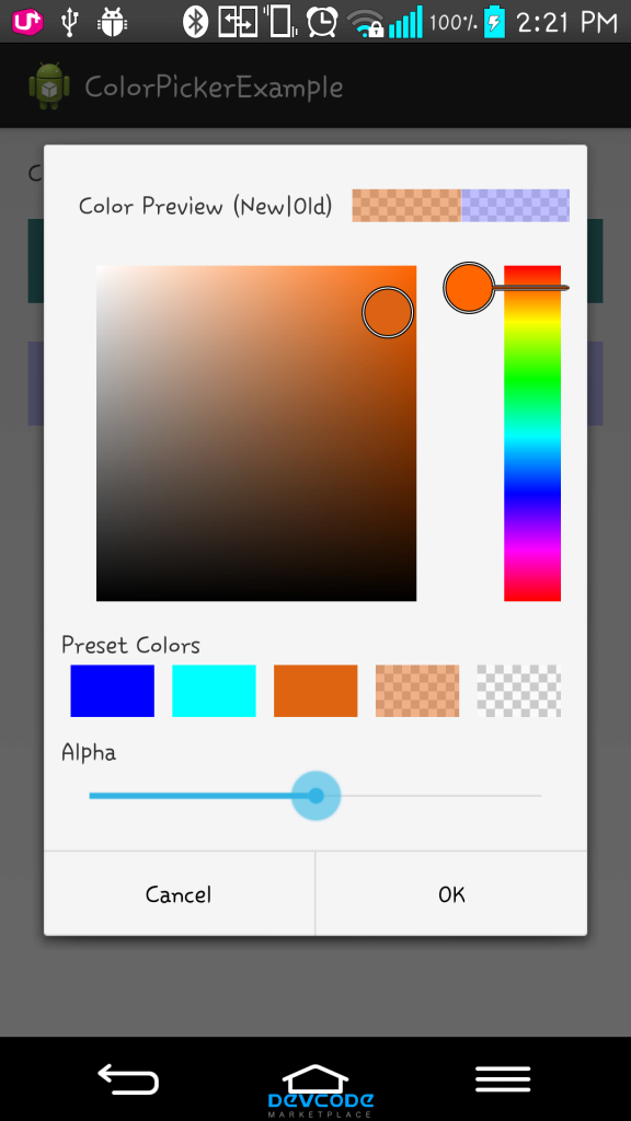 Cool Android Color Picker - Android App Source Code - regarding Android Color Codes