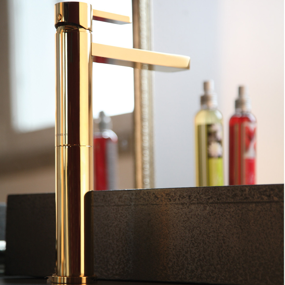 Cool Aqua Polished Gold Modern Bathroom Faucet for Gold Faucet Bathroom
