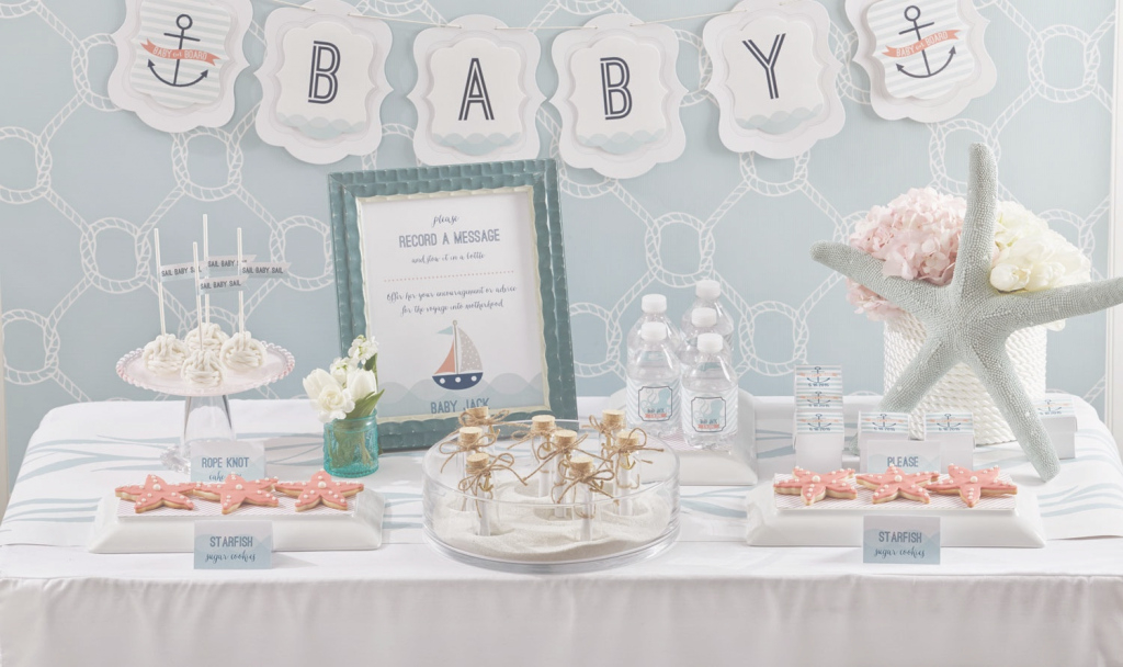 Cool Baby On Board Nautical Baby Shower - Play.party.plan for Unique Nautical Theme Baby Shower Decorations