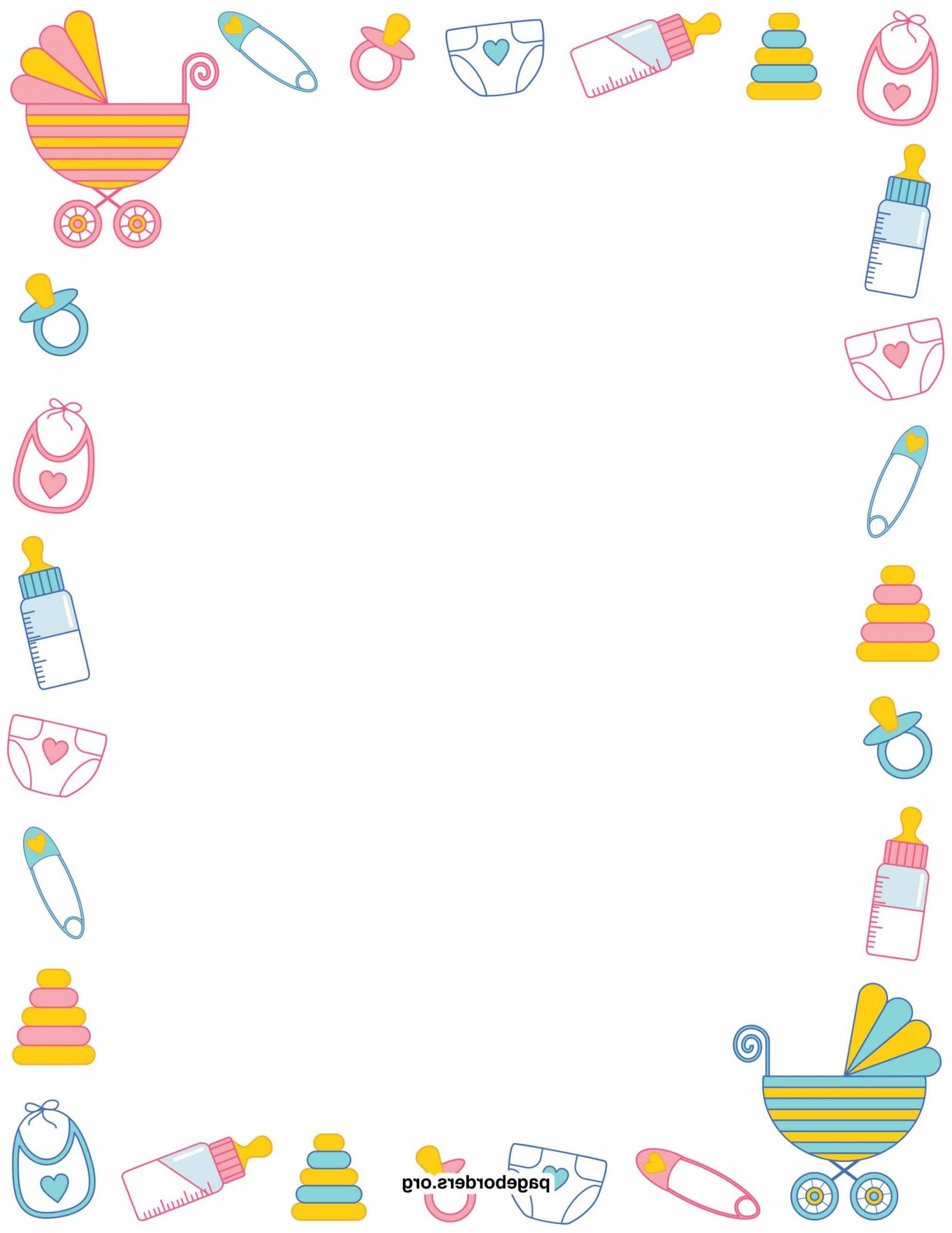 Cool Baby Shower Borders For Word - Acur.lunamedia.co throughout Unique Baby Shower Borders