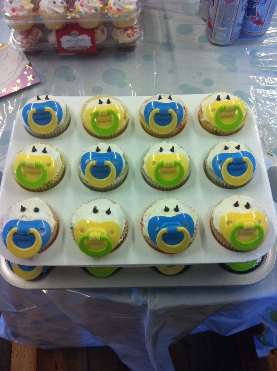 Cool Baby Shower Cakes: Baby Shower Boy Cupcakes Recipes for Baby Shower Food Ideas For Boy