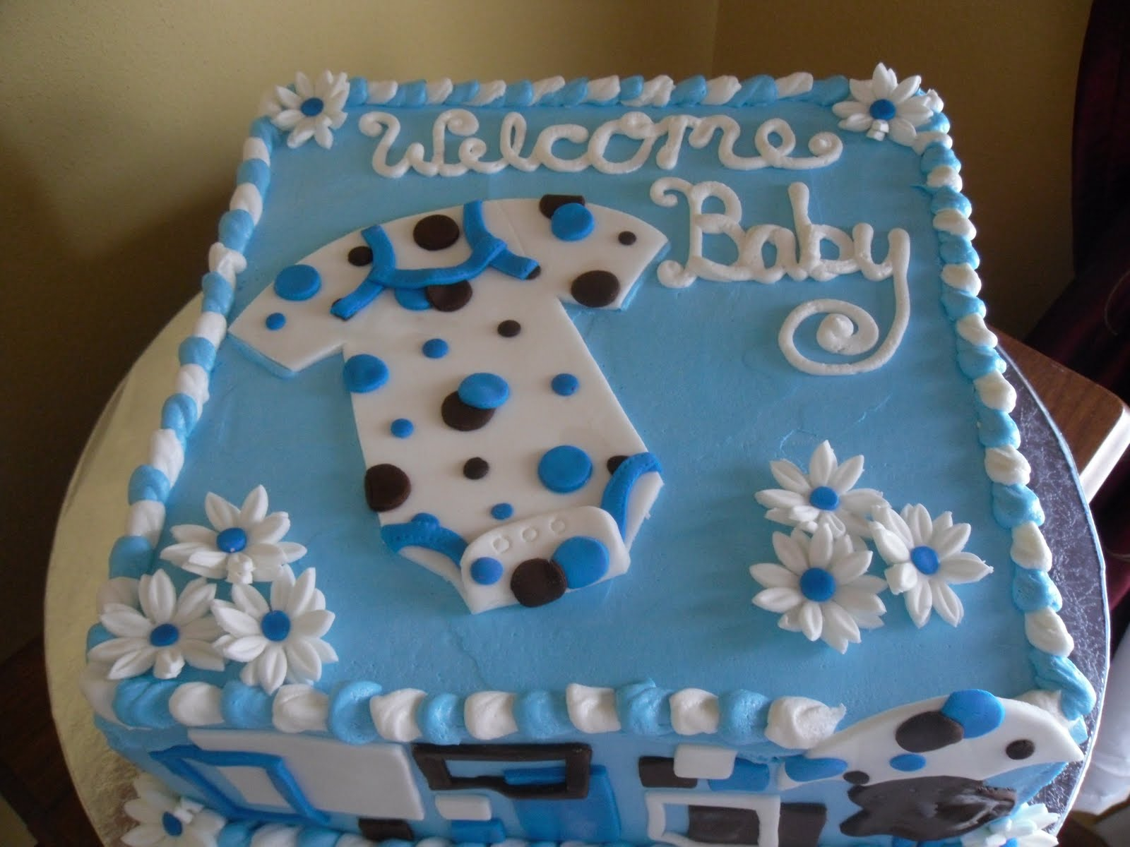 Cool Baby Shower Cakes: Homemade Baby Shower Cake Ideas For A Boy inside Baby Boy Shower Cakes