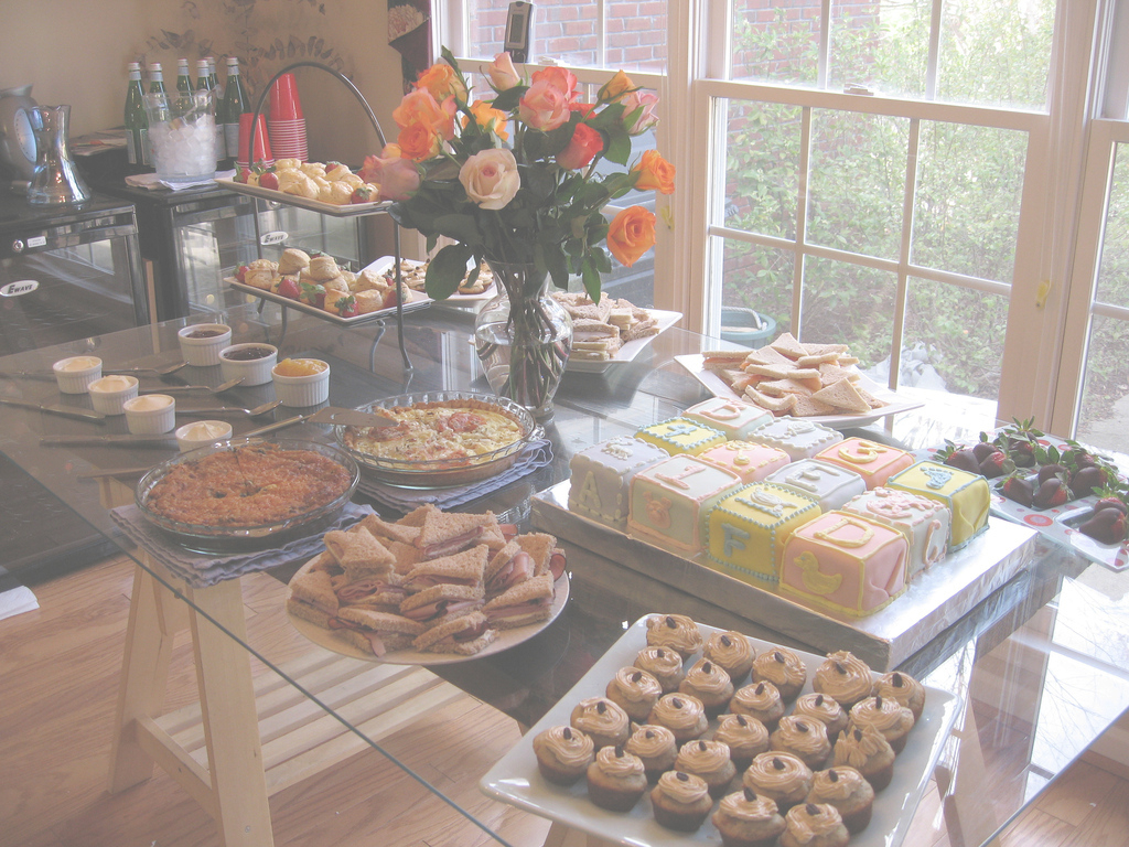 Cool Baby Shower Food Table & Desserts | The Food Spread For My F… | Flickr for Baby Shower Food