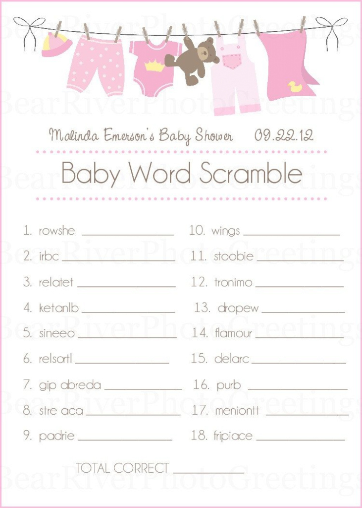 Cool Baby Shower Game Cards Baby Word Scramble Setphotogreetings Baby for Elegant Baby Shower Unscramble
