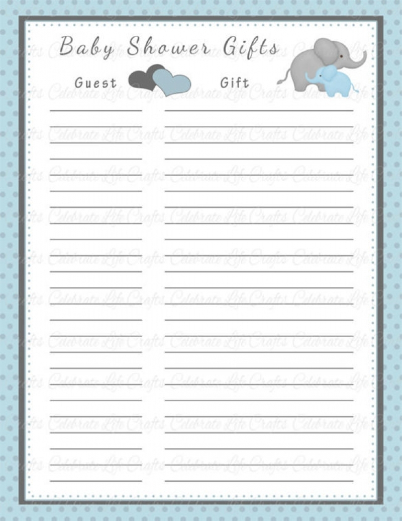 Cool Baby Shower List Of Gifts | Wblqual regarding Baby Shower List