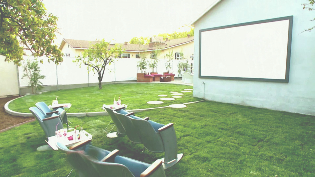 Cool Backyard Makeover With Outdoor Movie Theater Video Hgtv X with regard to Hgtv Backyard Makeover