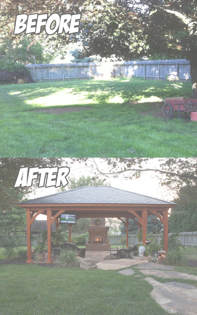 Cool Backyard Paradise Lancaster, Pa (Before & After) - C.e. Pontz Sons with regard to Lovely Backyard Paradise