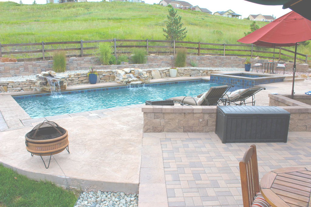 Cool Backyard Pool And Spa - Integrity Pool Builders with regard to Inspirational Backyard Builders