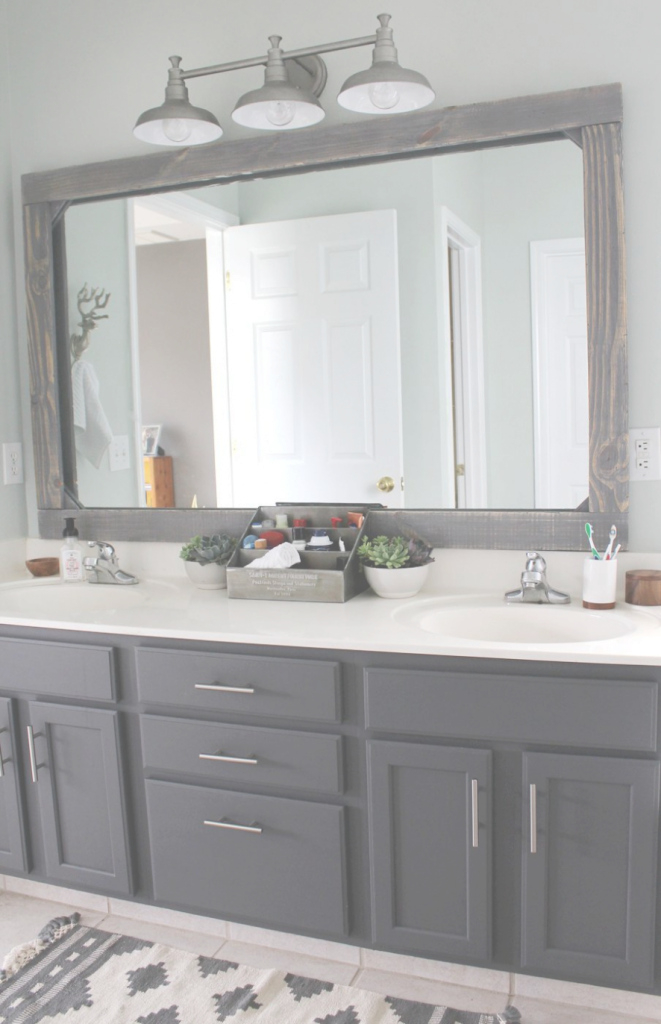 Cool Bath: Diy Rustic Wood Mirror Frame | Master Bathrooms, Bliss And with regard to High Quality Master Bathroom Mirrors