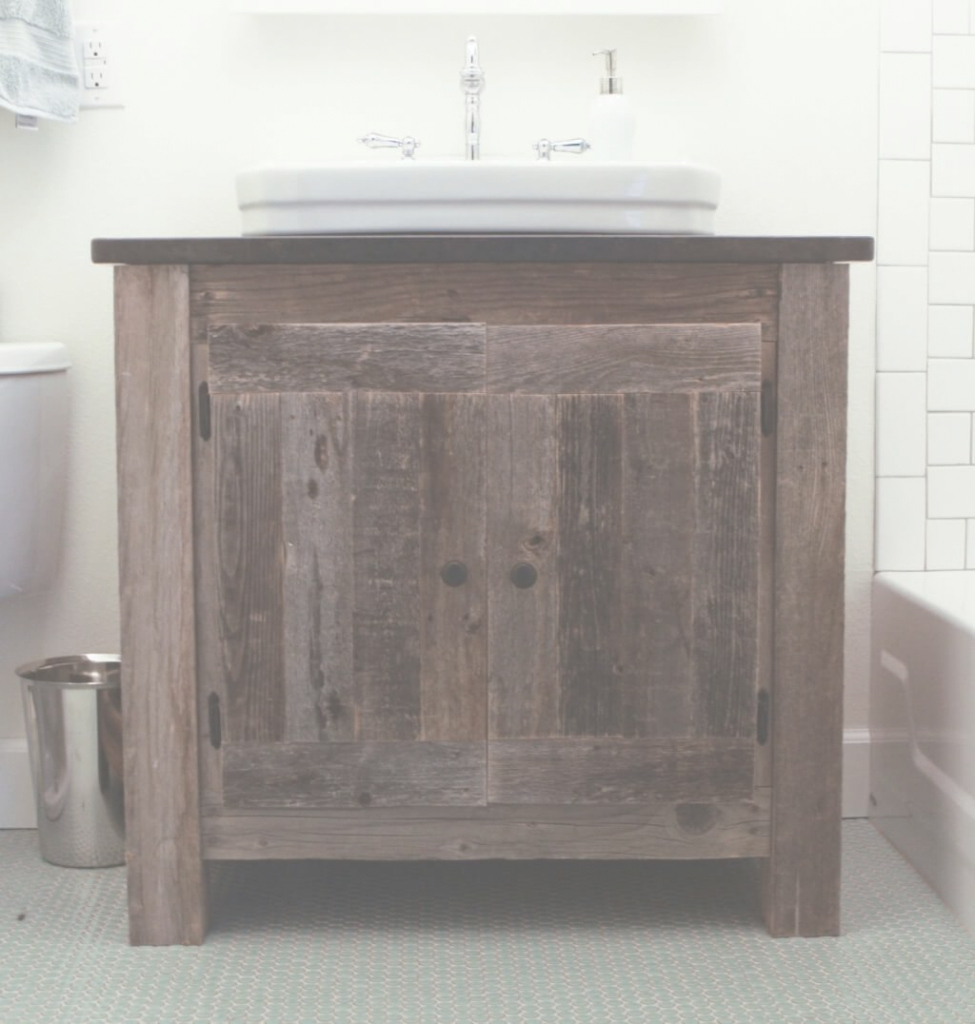 Cool Bathroom: Astounding Design Of Reclaimed Wood Bathroom Vanity With within Inspirational Weathered Wood Bathroom Vanity