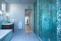 Cool Bathroom : Bathroom Gorgeous Blue Tile Tiled Pictures Vintage Tiles within Blue Glass Tile Bathroom