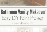 Cool Bathroom Vanity Makeover – Easy Diy Home Paint Project | Pinterest inside Painted Bathroom Vanity