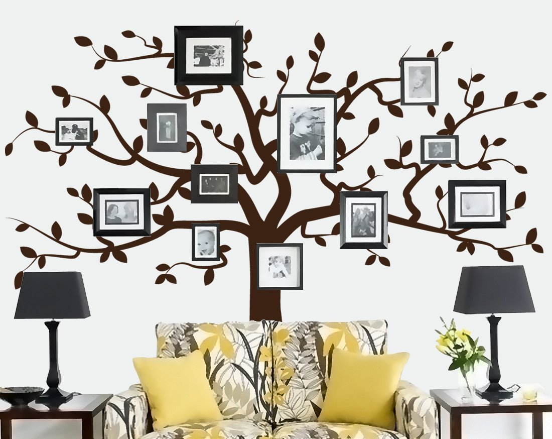 Cool Beautiful Family Tree Wall Decal Ideas | Home Designing pertaining to Unique Tree Wall Decals For Living Room