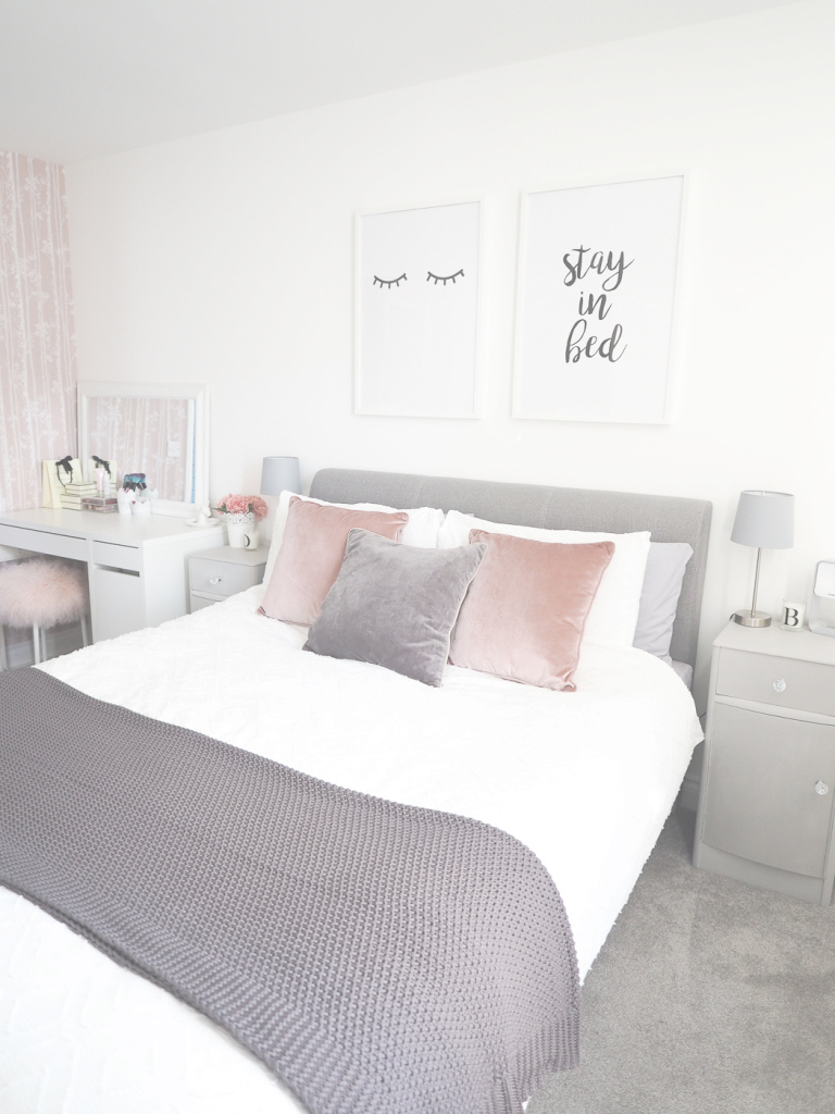 Cool Bedroom Tour | Pink And Grey Bedroom Decor - Bang On Style within New Grey Bedroom