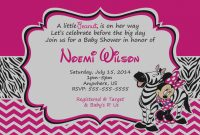 Cool Best Of Minnie Mouse Baby Shower Invitations Templates – Invitation throughout Review Minnie Mouse Baby Shower Invitations