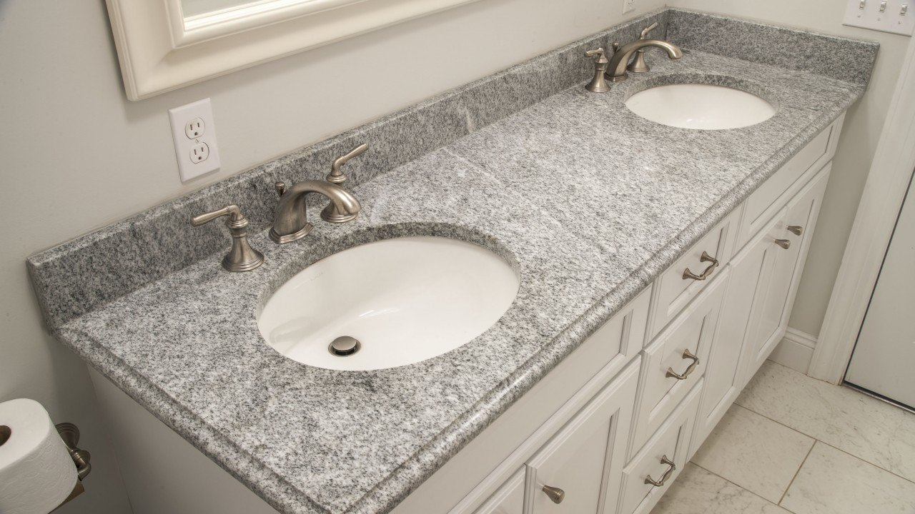 Cool Bianco Diamante Granite Bathroom Vanity Top regarding Bathroom Vanity Top