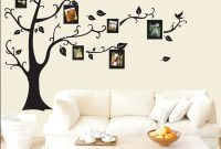 Cool Black 3D Photo Tree Frame Family Forever Memory Tree Wall Frame Pvc inside Tree Wall Decals For Living Room