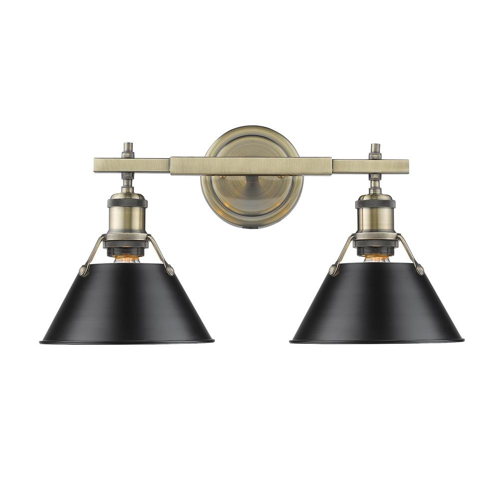 Cool Black - Vanity Lighting - Lighting - The Home Depot intended for New Black Bathroom Vanity Light