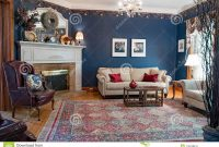 Cool Blue Victorian Living Room Editorial Image. Image Of Blue – 118749415 inside Living Room Dayton