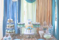 Cool Boy Baby Shower Gold Teal Mint Cream Theme Colors – 001 – Gannettgarza with Boy Baby Shower Colors
