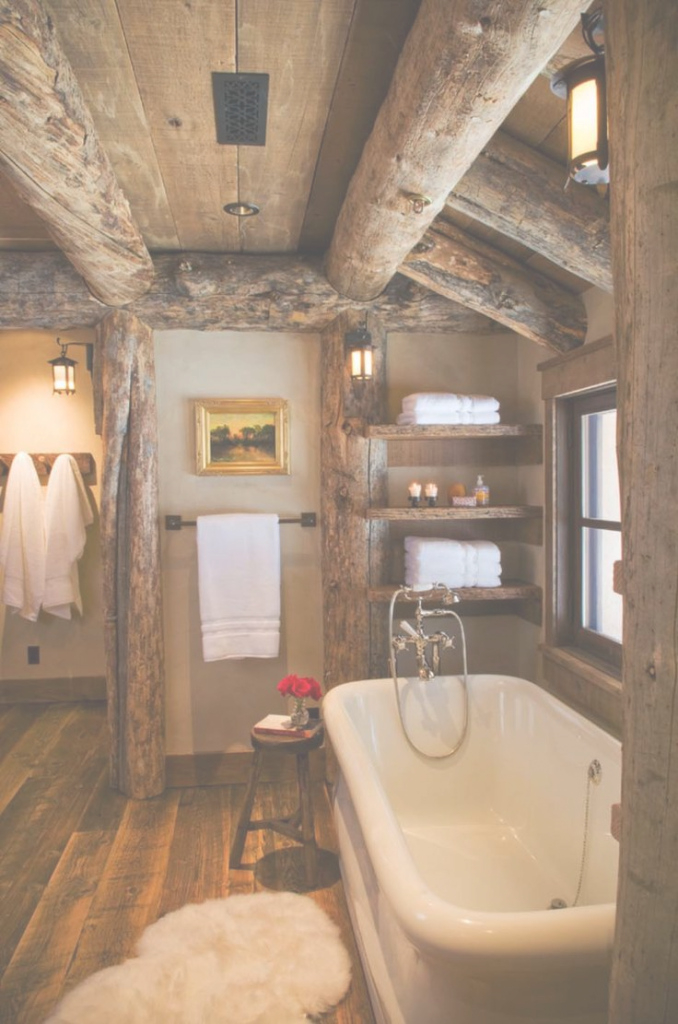 Cool Cabin Bathroom Sets | Spirit Decoration for Cabin Bathroom Ideas