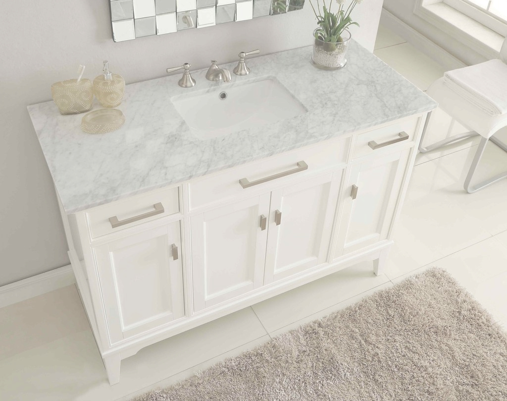 Cool Carrera Marble Bathroom Vanity | Modern Bathroom Decoration for Fresh Marble Bathroom Vanity