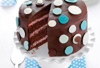 Cool Chocolate-Raspberry Polka Dot Cake Recipe | Taste Of Home inside New Baby Shower Cake Recipes