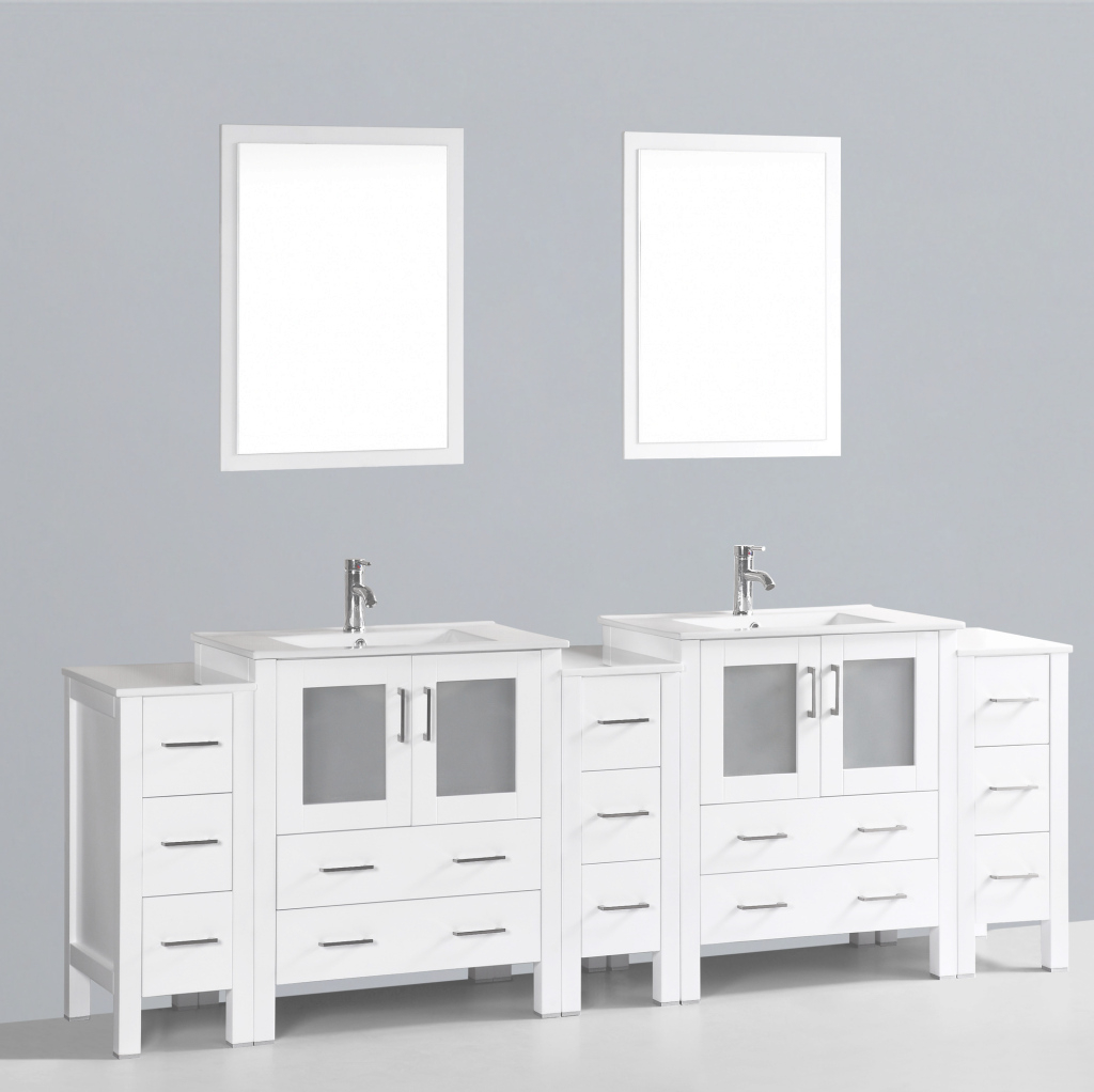 Cool Contemporary 96 Inch Double Bathroom Vanity Set With Mirror with regard to Best of Bathroom Vanity Set With Mirror