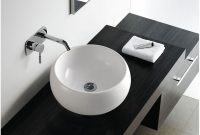 Cool Contemporary Modern Round Ceramic Cloakroom Basin Bathroom Sink regarding New Designer Bathroom Sinks
