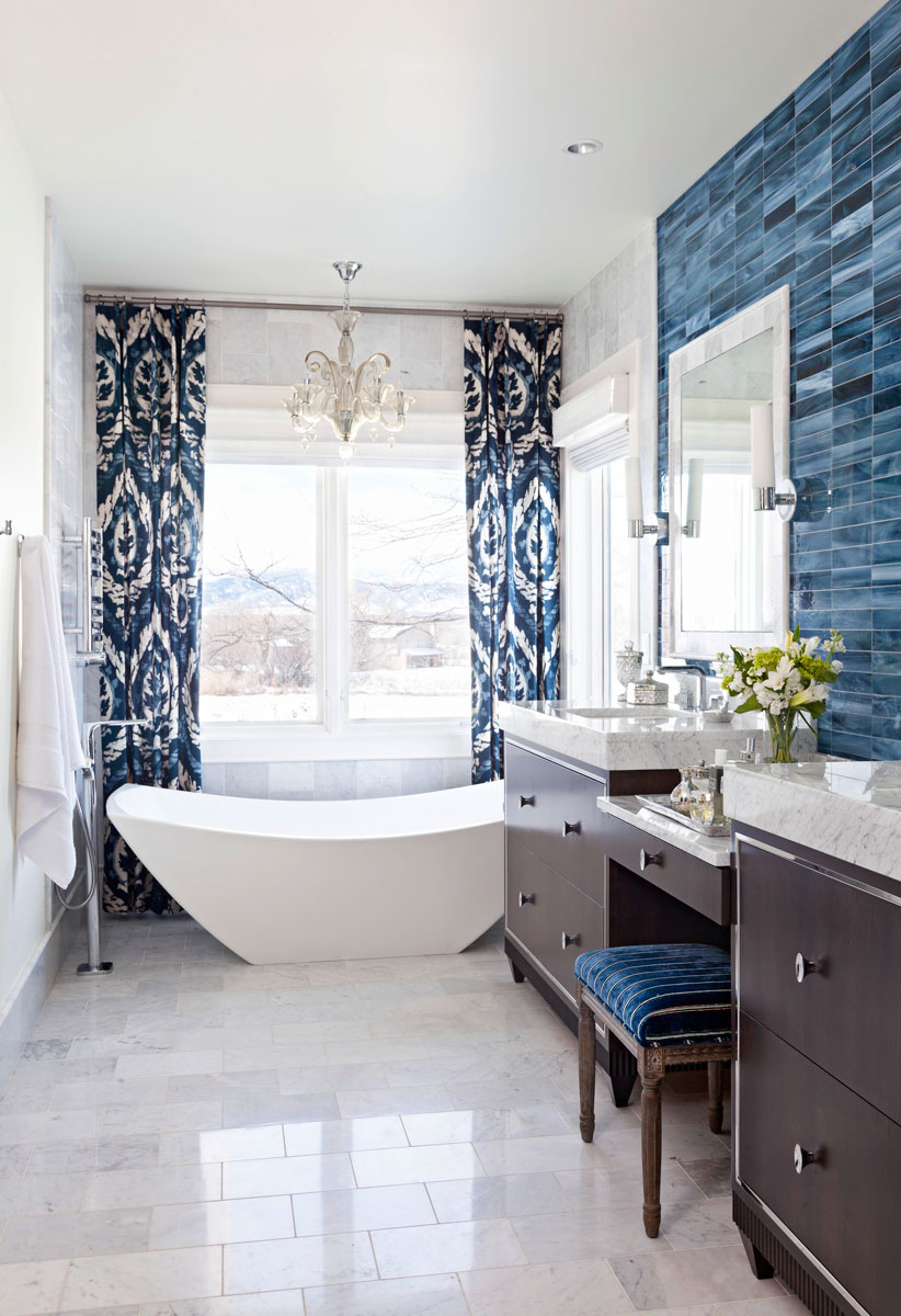 Cool Decorating Ideas For Blue-And-White Bathrooms | Traditional Home regarding Blue Bathroom Pictures