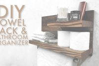Cool Diy Towel Rack & Bathroom Organizer | Modern Builds | Ep. 51 – Youtube inside Set Bathroom Towel Holder Ideas