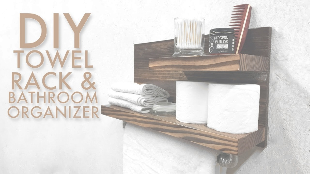 Cool Diy Towel Rack & Bathroom Organizer | Modern Builds | Ep. 51 - Youtube inside Set Bathroom Towel Holder Ideas