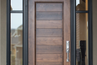 Cool Example Of Custom Wood Door With Glass Surround | Interior Barn in Door And Window Design Image