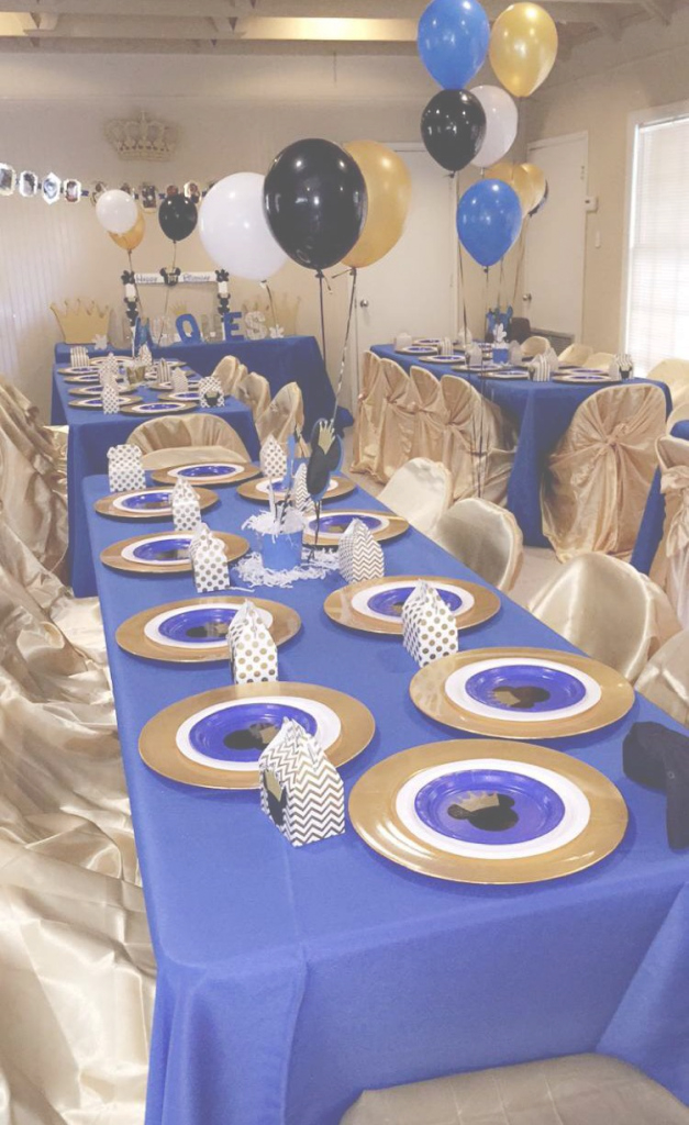 Cool Fine Prince Themed Baby Showereas Ebomb Best Balloon On Pinterest regarding Luxury Royal Blue And Gold Baby Shower Ideas