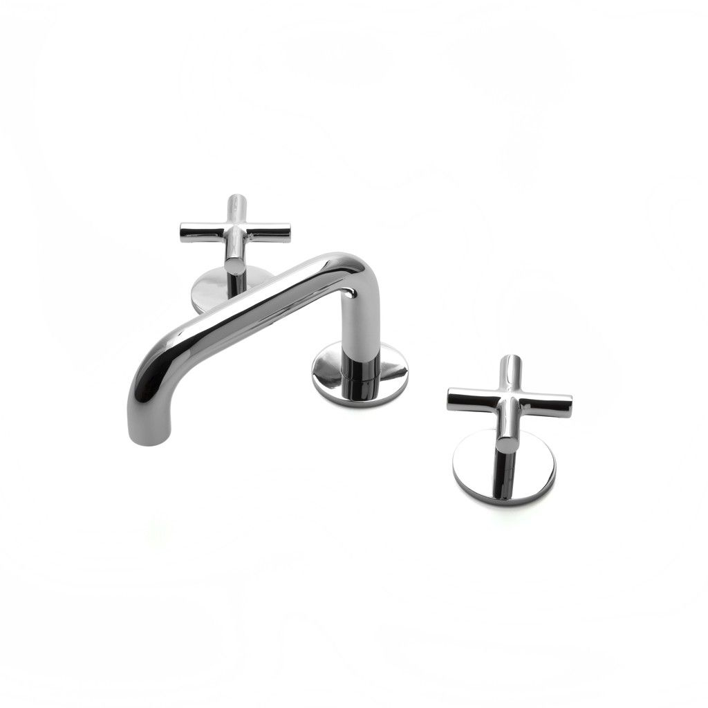 Cool Flyte Low Profile Three Hole Deck Mounted Lavatory Faucet With Metal with Review Cross Handle Bathroom Faucet