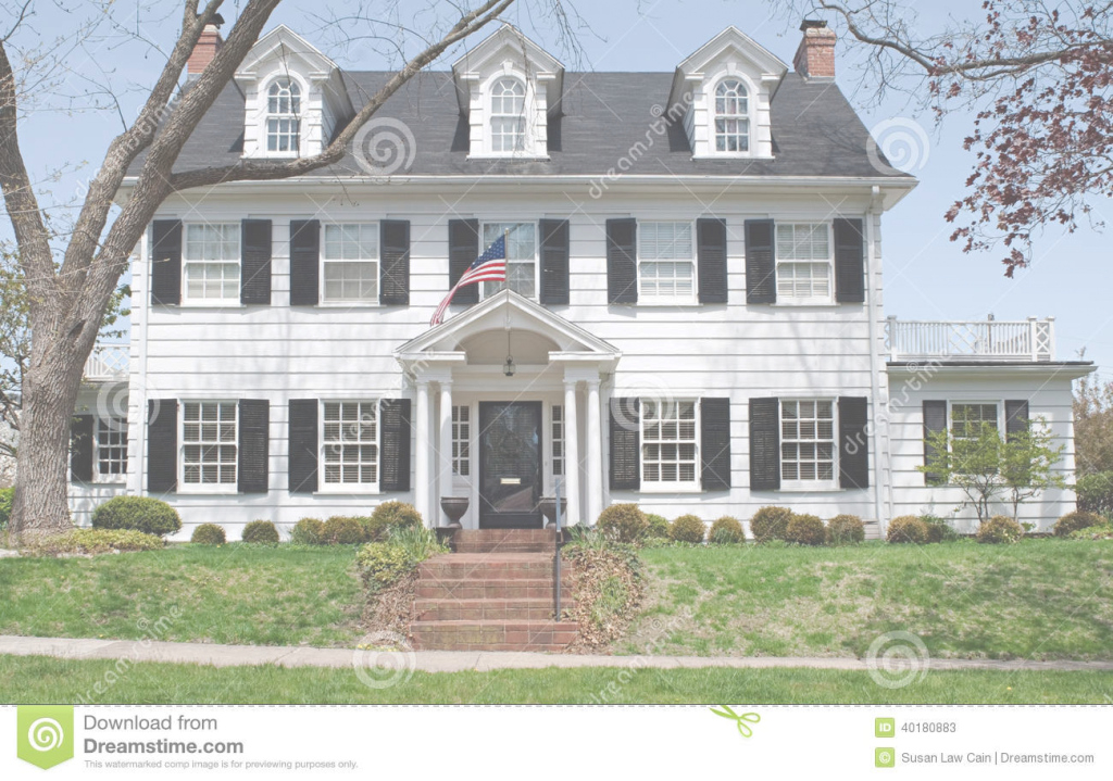 Cool Georgian Colonal House Stock Image. Image Of Lawn, Lifestyle - 40180883 intended for Modern Georgian House Plans Stock