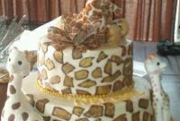 Cool Giraffe Themed Baby Shower Cake – Cakecentral with Giraffe Themed Baby Shower