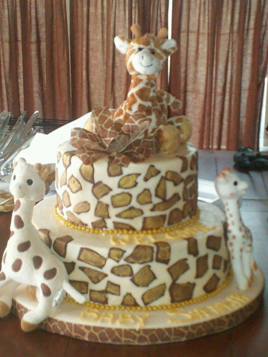 Cool Giraffe Themed Baby Shower Cake - Cakecentral with Giraffe Themed Baby Shower