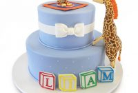 Cool Giraffe Themed Baby Shower Cake » Custom Baby Shower Cakes with regard to Giraffe Themed Baby Shower