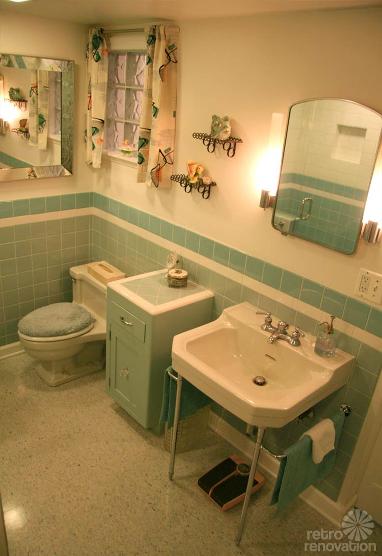 Cool Gorgeous Blue Tile Bathroom - Vintage Style - From Scratch! within Unique Blue Bathroom Remodel